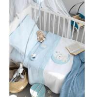 Κουβέρτα Κούνιας Πικέ Palamaiki Baby Joia Collection BJ465 Ciel