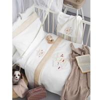 Κουβέρτα Κούνιας Πικέ Palamaiki Baby Joia Collection BJ486 Beige