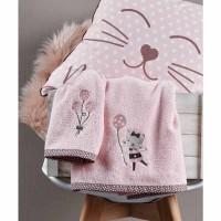 Σετ πετσέτες βρεφικές 2 τμχ KENTIA Kitty