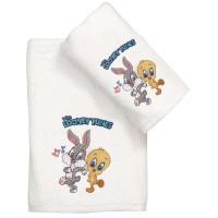 Σετ Πετσέτες Παιδικές 2τμχ Viopros Σχ. Baby Looney Tunes 21 02901525020