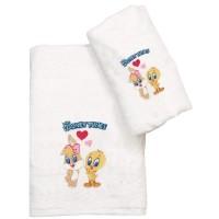 Σετ Πετσέτες Παιδικές 2τμχ Viopros Σχ. Baby Looney Tunes 22 02901525020