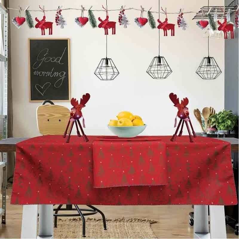 Χριστουγεννιάτικο Τραπεζομάντηλο (140x240) Das Home Cristmas Collection Code 0550