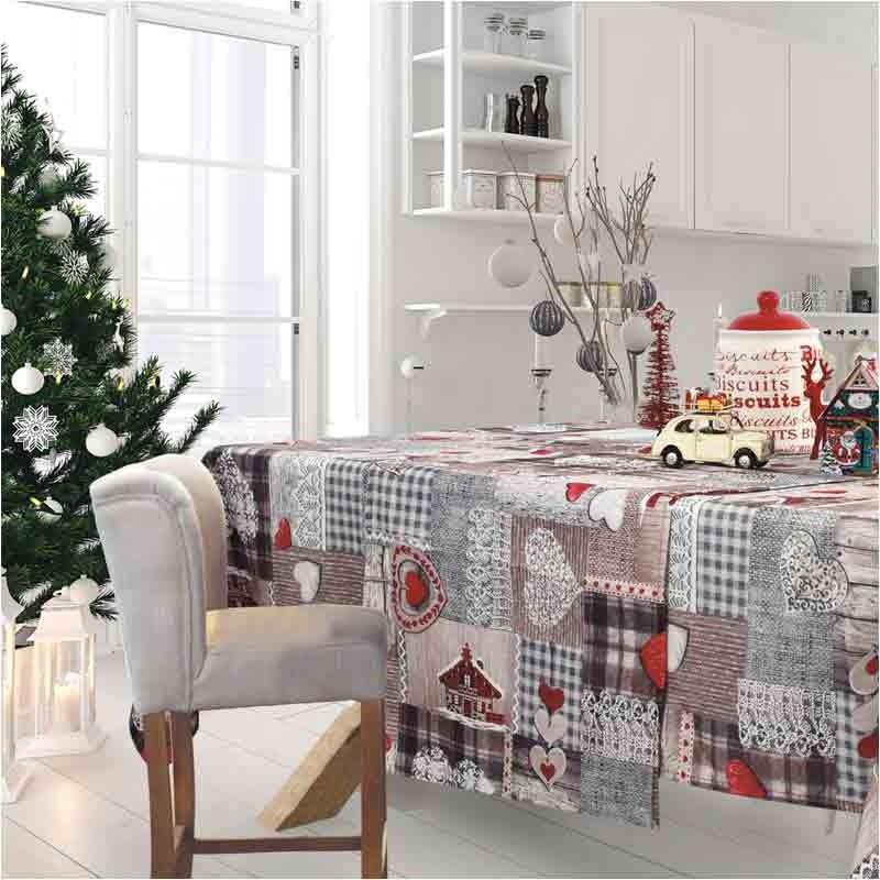 Χριστουγεννιάτικο Τραπεζομάντηλο (140x220) Das Home Cristmas Collection Code 0571