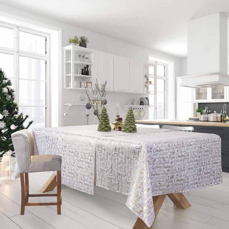 Χριστουγεννιάτικο Τραπεζομάντηλο (140x220) Das Home Cristmas Collection Code 0575