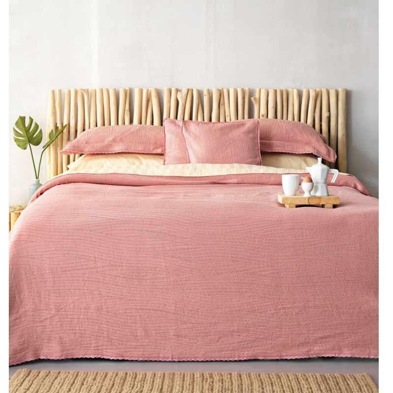Κουβέρτα Ημίδιπλη Palamaiki Daily Blankets 1099 Dark Pink