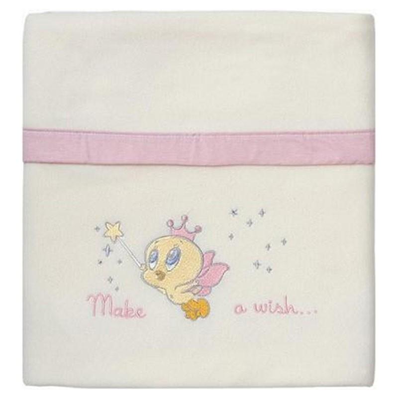 Κουβέρτα Κούνιας Fleece Omega Home Looney Tunes Design 36-1724/12