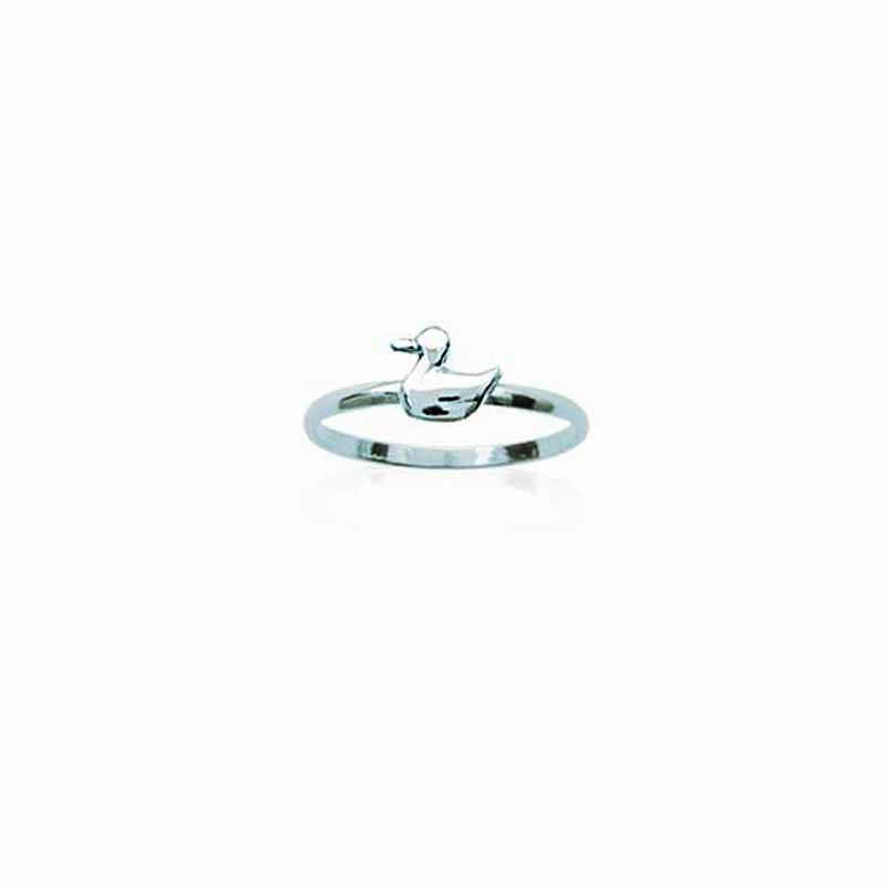 Δαχτυλίδι Ασημένιο 925 Βρεφικό Παιδικό Παπάκι os143155