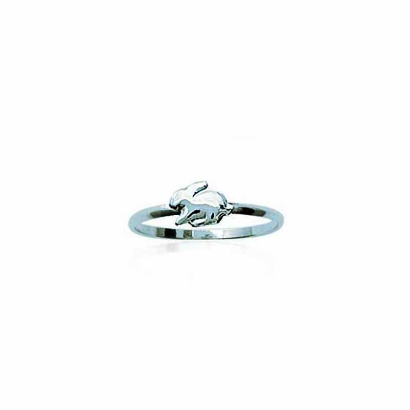 Δαχτυλίδι Ασημένιο 925 Βρεφικό Παιδικό Κουνελάκι os143153