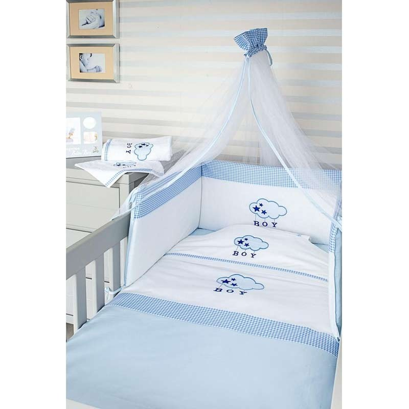 db825df62c3 Σετ Κούνιας Βρεφικό 3τμχ Baby Oliver Blue Cloud Design 143 46-6200/143