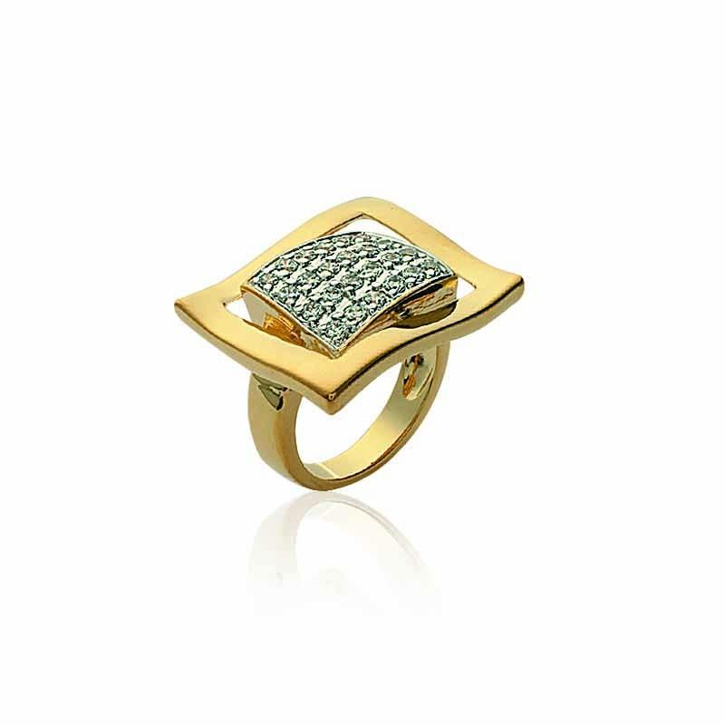 Δαχτυλίδι Brass Επίχρυσο 18Κ os207751