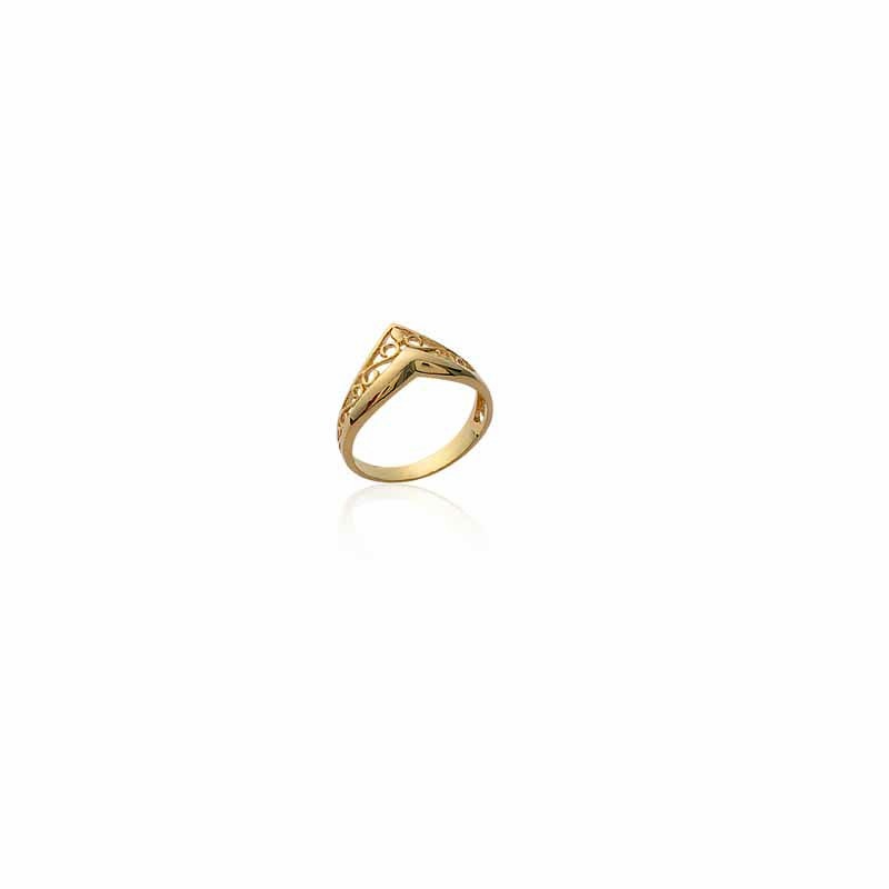 Δαχτυλίδι Brass Επίχρυσο 18Κ Oxford Street 2081325