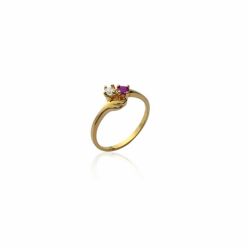 Δαχτυλίδι Brass Επίχρυσο 18Κ Oxford Street 2135