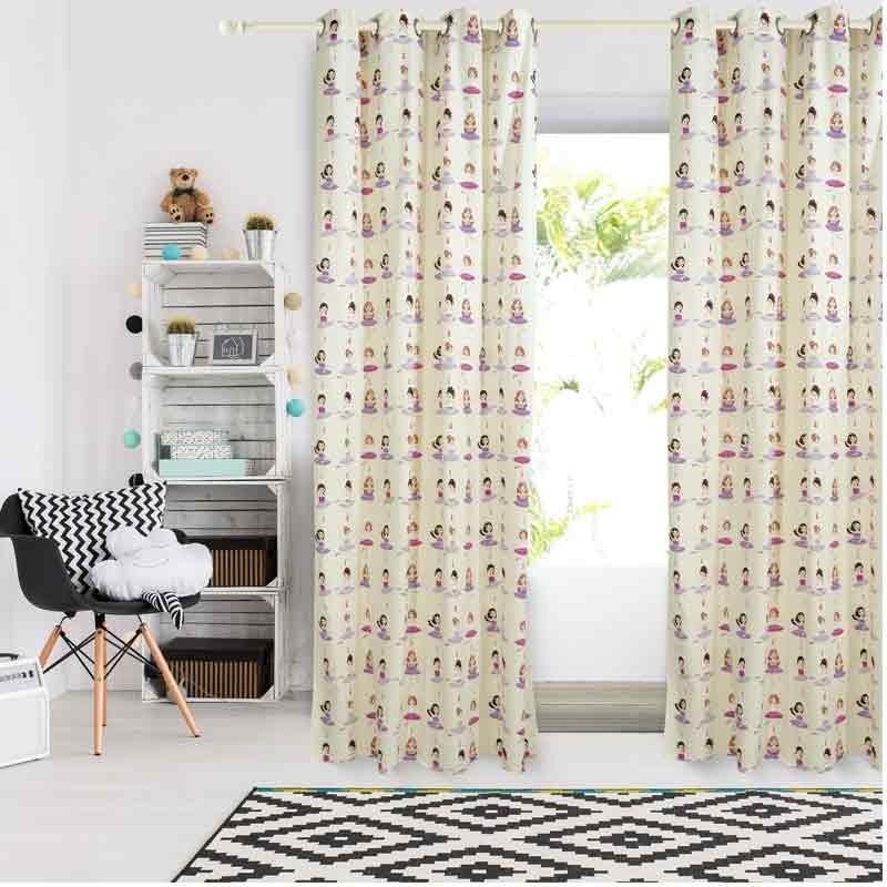 Κουρτίνα Παιδική με κρίκους (140x260) Das Home Curtain Line Prints 2137