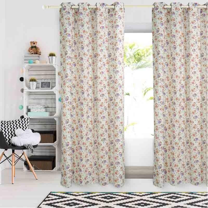 Κουρτίνα Παιδική με κρίκους (140x260) Das Home Curtain Line Prints 2139