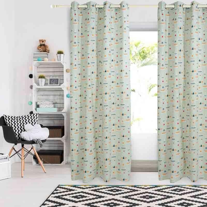 Κουρτίνα Παιδική με κρίκους (140x260) Das Home Curtain Line Prints 2140