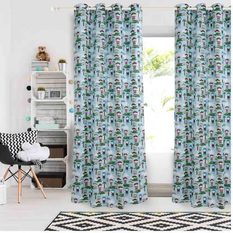 Κουρτίνα Παιδική με κρίκους (140x260) Das Home Curtain Line Prints 2142