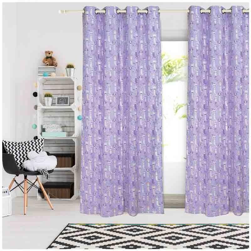 Κουρτίνα Παιδική με κρίκους (140x260) Das Home Curtain Line Prints 2157