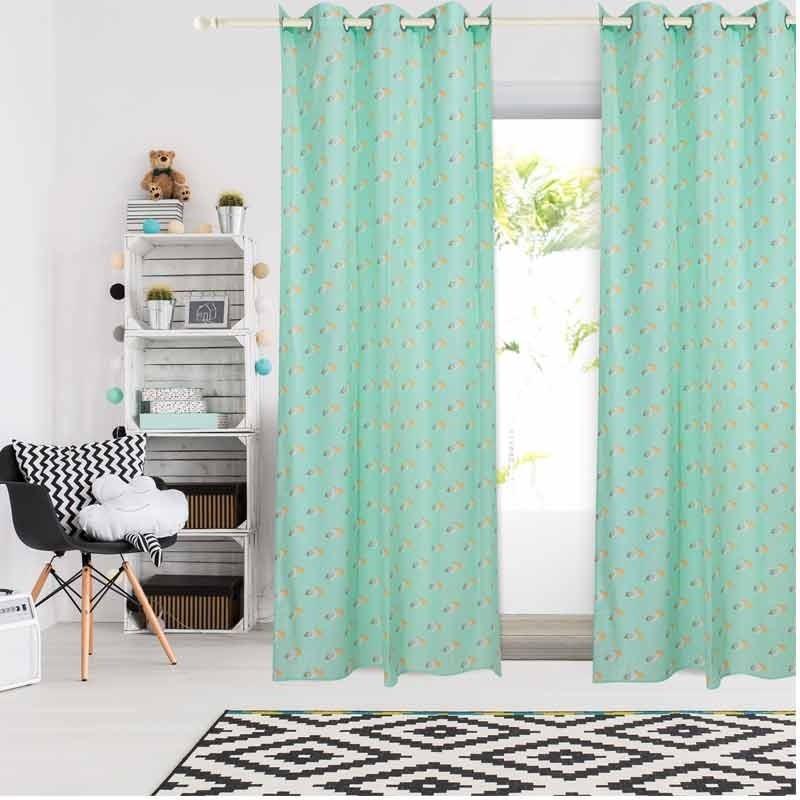Κουρτίνα Παιδική με κρίκους (140x260) Das Home Curtain Line Prints 2158