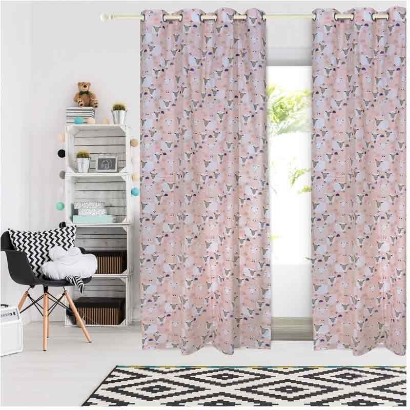 Κουρτίνα Παιδική με κρίκους (140x260) Das Home Curtain Line Prints 2159