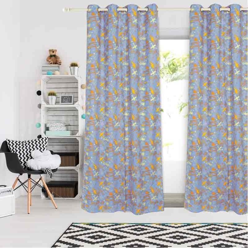 Κουρτίνα Παιδική με κρίκους (140x260) Das Home Curtain Line Prints 2160