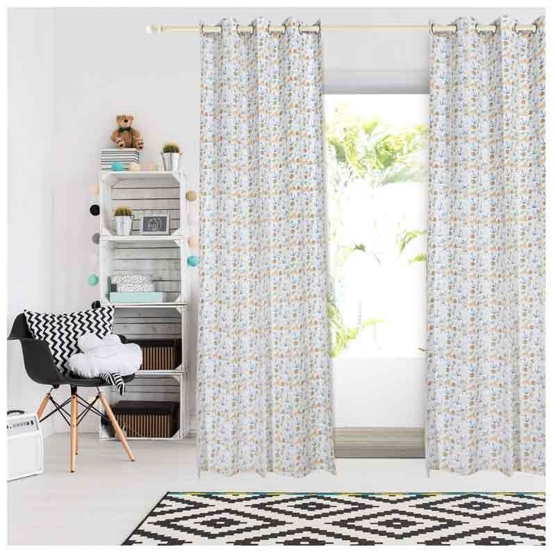 Κουρτίνα Παιδική με κρίκους (140x260) Das Home Curtain Line Prints 2161