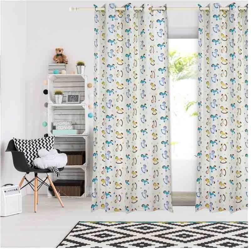 Κουρτίνα Παιδική με κρίκους (140x260) Das Home Curtain Line Prints 2162