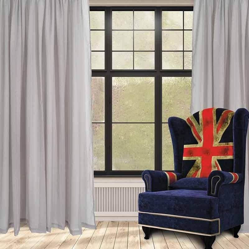 Κουρτίνα με Τρέσα (300x270) Das Home Curtain Line Code 2189 ΓΚΡΙ