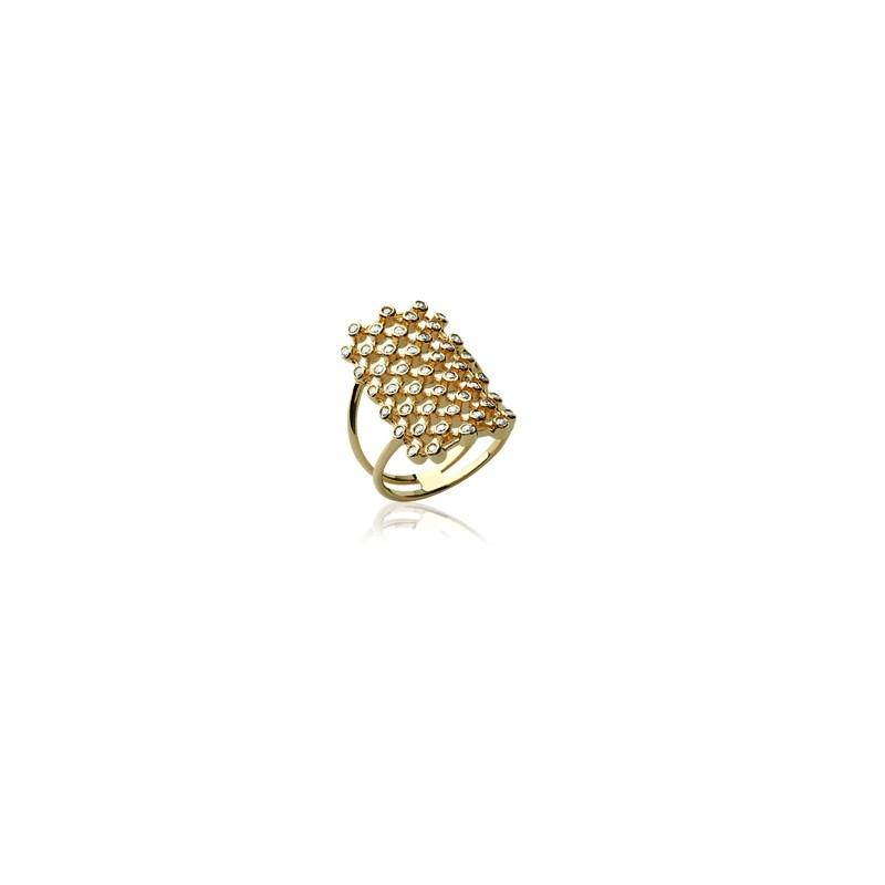 Δαχτυλίδι Brass Επίχρυσο 18Κ Oxford Street 2208410