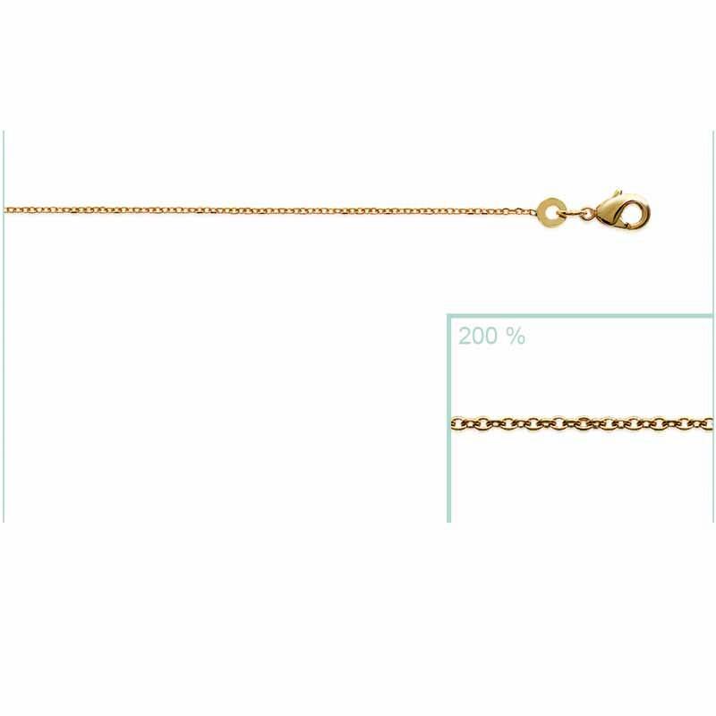 Αλυσίδα Brass Επίχρυση18Κ Oxford Street 70cm 22504070