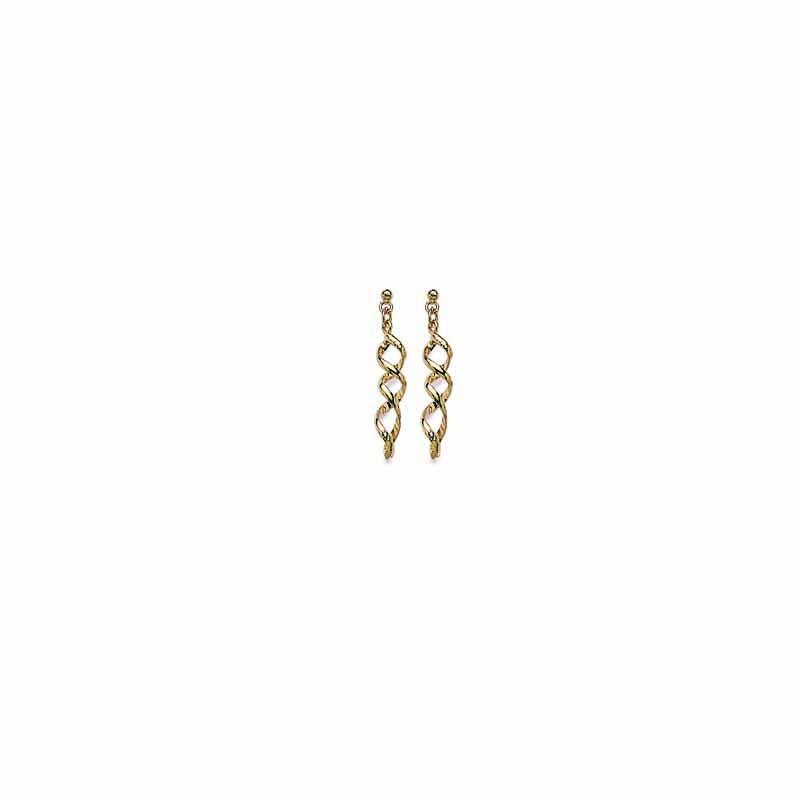 Σκουλαρίκια Brass Επίχρυσα 18Κ  Oxford Street 237320