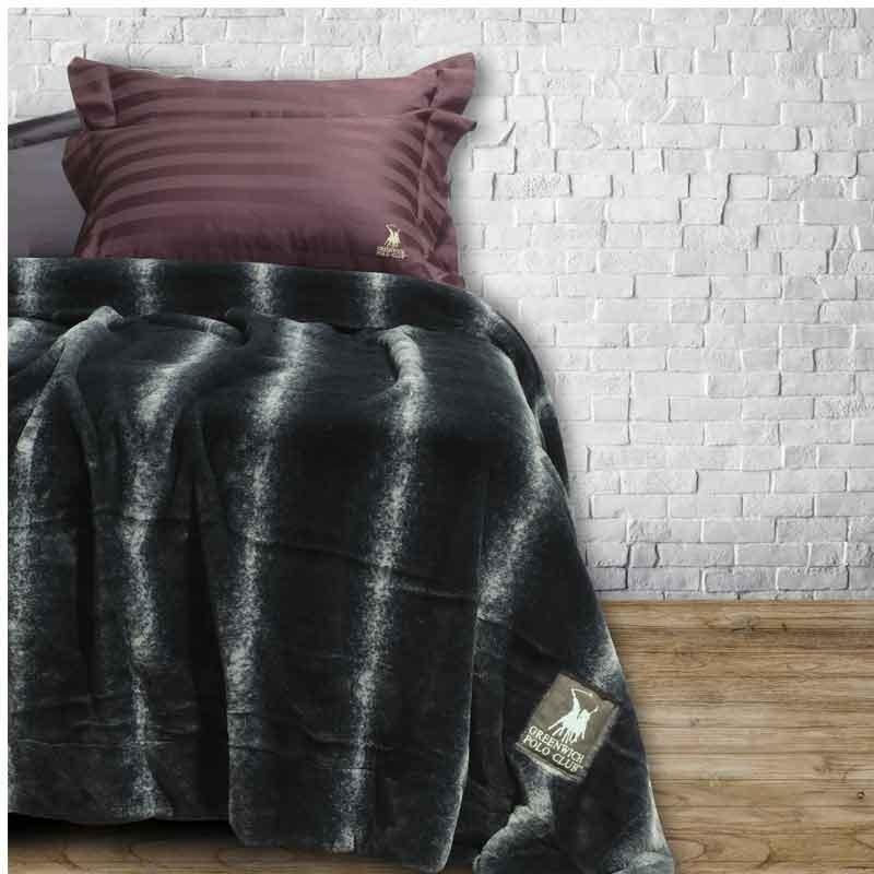 Κουβέρτα Faux Fur Υπέρδιπλη Greenwich Polo Club 2407