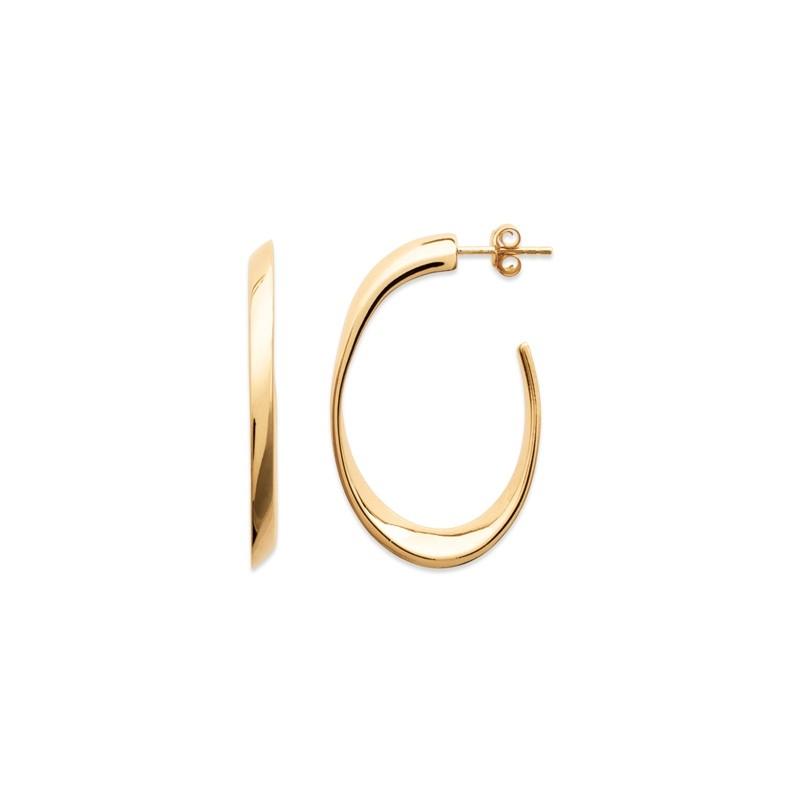 Σκουλαρίκια Κρίκοι Brass Επίχρυσα 18Κ  Oxford Street 2424
