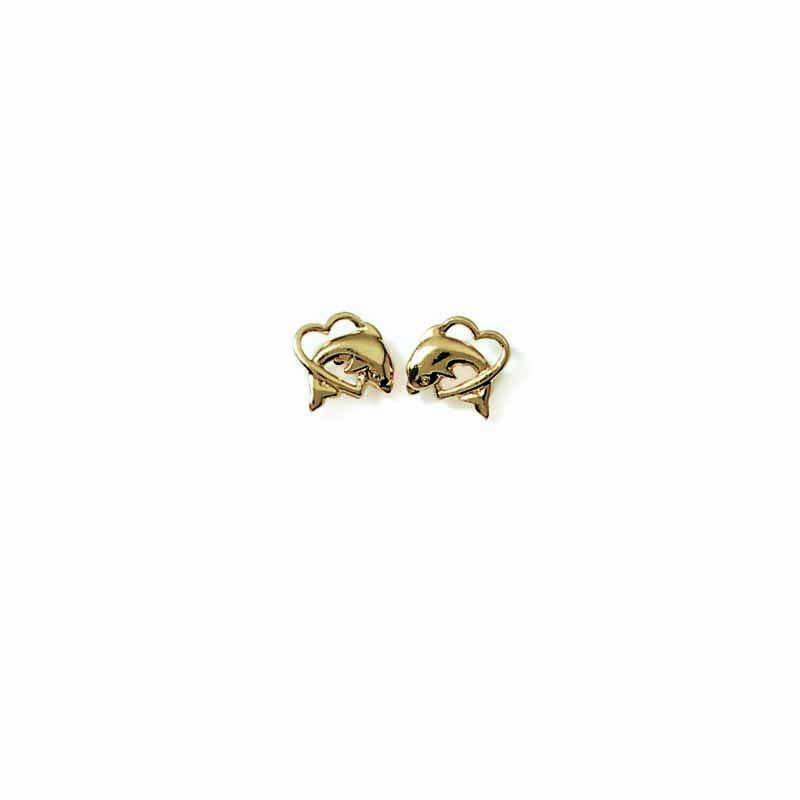 Σκουλαρίκια Brass Επίχρυσα 18Κ  Παιδικά Oxford Street 249370