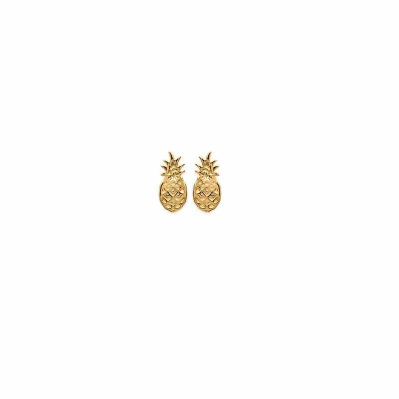 Σκουλαρίκια Brass Επίχρυσα 18Κ  Oxford Street 252780