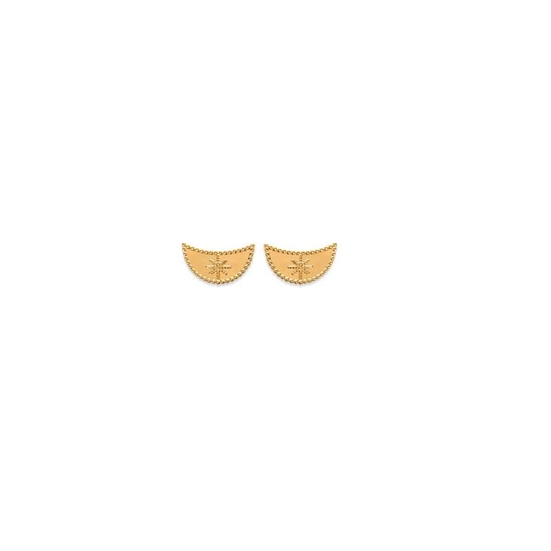 Σκουλαρίκια Brass Επίχρυσα 18Κ  Oxford Street 255650