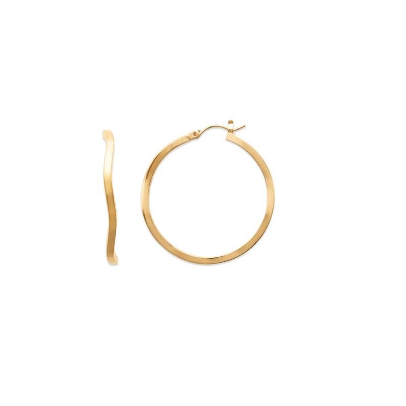 Σκουλαρίκια Κρίκοι Brass Επίχρυσα 18Κ  Oxford Street 2607300