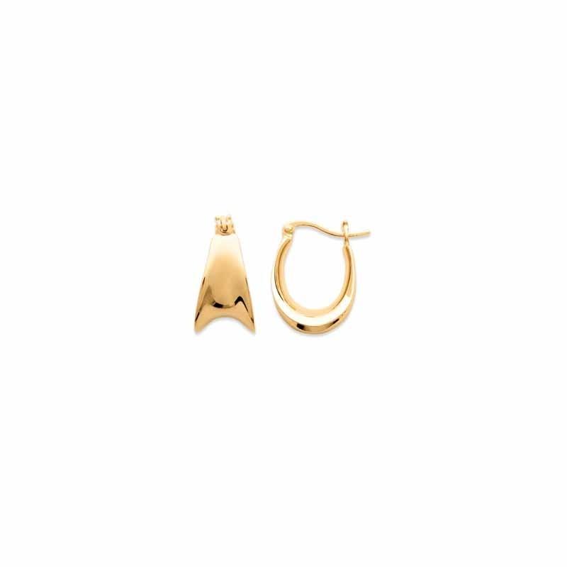 Σκουλαρίκια Κρίκοι Brass Επίχρυσα 18Κ  Oxford Street 261060