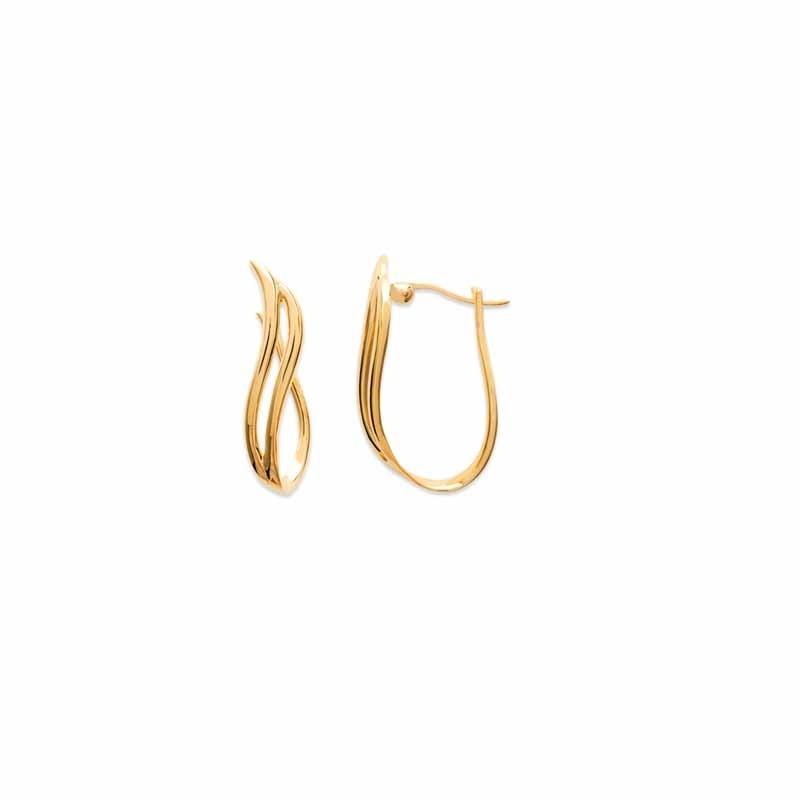 Σκουλαρίκια Κρίκοι Brass Επίχρυσα 18Κ  Oxford Street 261080