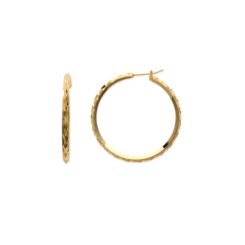 Σκουλαρίκια Κρίκοι Brass Επίχρυσα 18Κ  Oxford Street 2617040