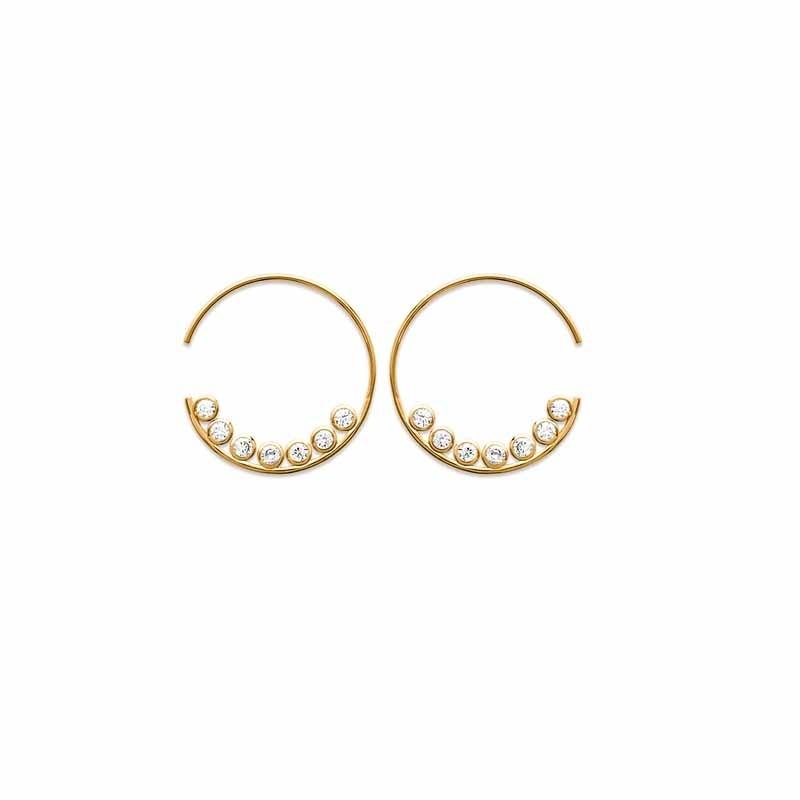 Σκουλαρίκια Κρίκοι Brass Επίχρυσα 18Κ  Oxford Street 262051