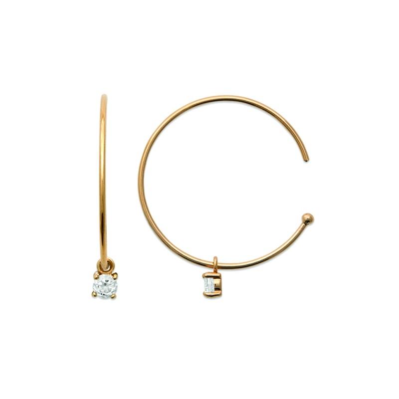 Σκουλαρίκια Brass Επίχρυσα 18Κ  Oxford Street 2626610