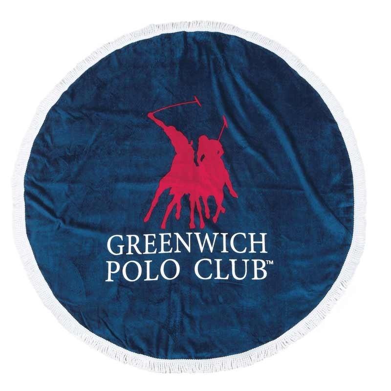 Πετσέτα Θαλάσσης Στρογγυλή (Δ160cm) Greenwich Polo Club 2824