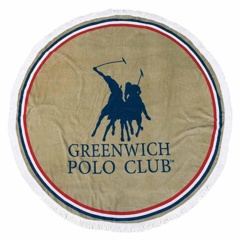 Πετσέτα Θαλάσσης Στρογγυλή (Δ160cm) Greenwich Polo Club 2825