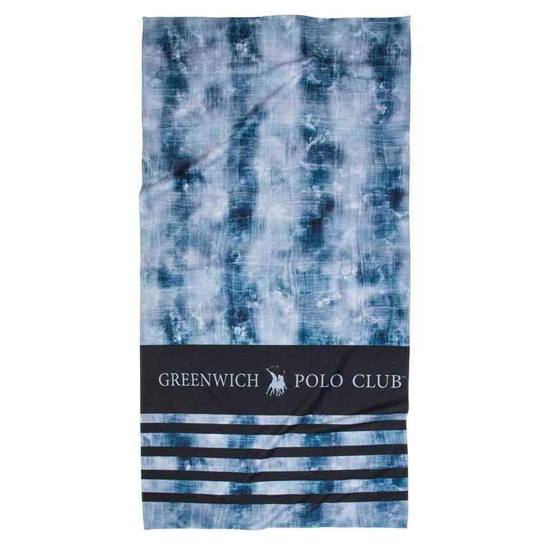 Πετσέτα Θαλάσσης (80x160) Greenwich Polo Club Code 2866 ΜΠΛΕ-ΜΑΥΡΟ