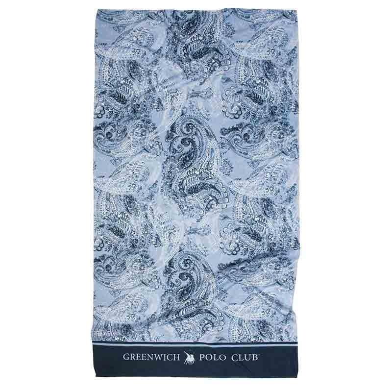 Πετσέτα Θαλάσσης (80x160) Greenwich Polo Club Code 2867 ΜΠΛΕ-ΓΑΛΑΖΙΟ-ΛΕΥΚΟ