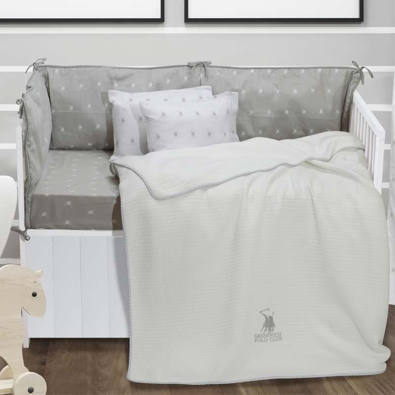 Κουβέρτα Αγκαλιάς Καλοκαιρινή Bamboo Greenwich Polo Club Essential Baby Collection 2940
