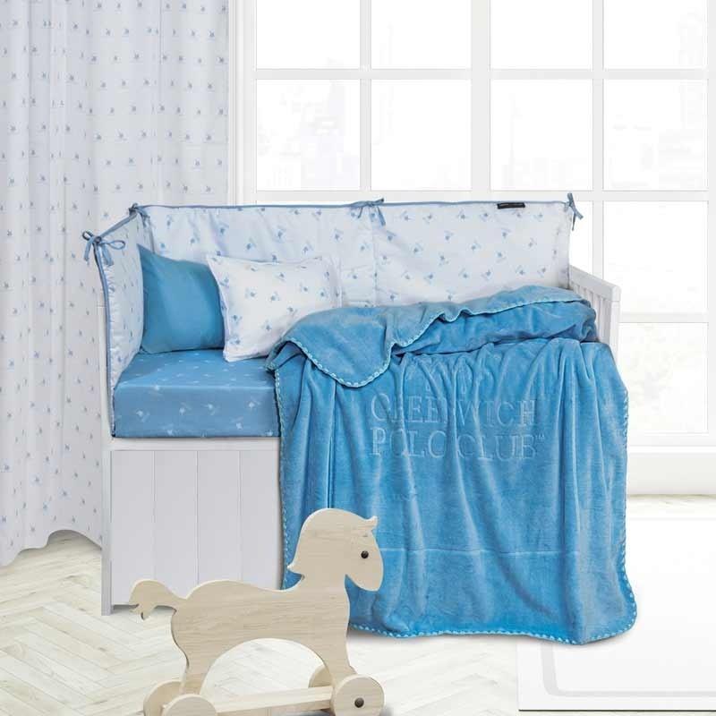 Κουβέρτα Κούνιας Velour Greenwich Polo Club Essential Baby Collection 2951