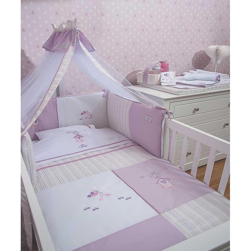 Σειρά Προίκας Μωρού Baby Oliver Lilac Dream Birds Design 300