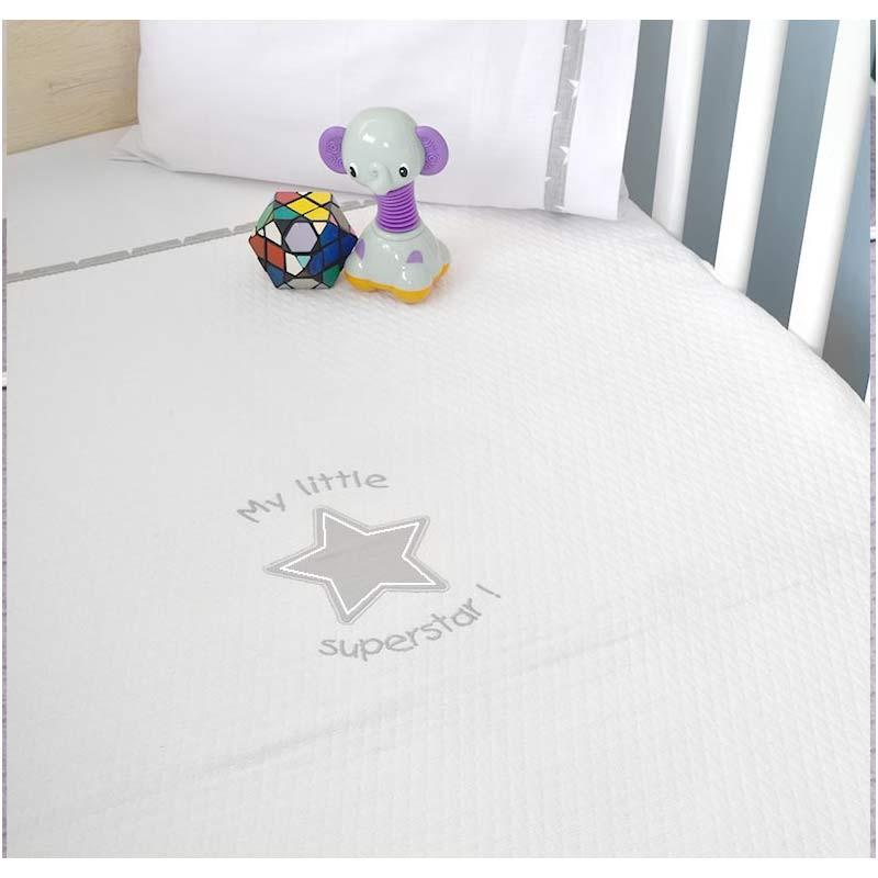 Κουβέρτα Αγκαλιάς Πικέ Baby Oliver My Little Superstar Design 301