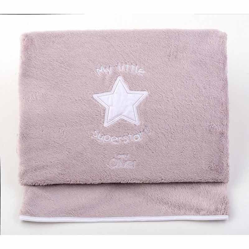 Κουβέρτα Αγκαλιάς Coral Fleece Baby Oliver My Little Superstar Design 301